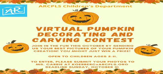 Virtual Pumpkin Decorating Contest