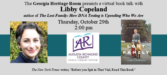 Virtual Book Talk with Libby Copeland