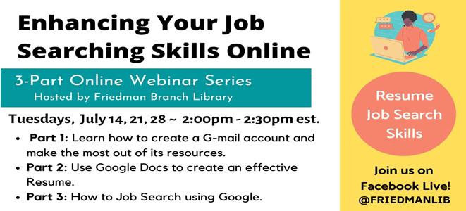 Enhancing Your Job Skills Webinar Series